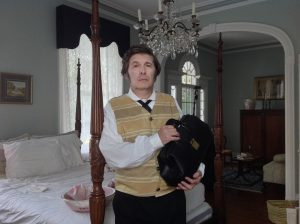 Randall Franks as 'Dr. J.A. Anderson' on the set of 'The Crickets Dance.'