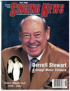 Derrell Stewart on Singing News Magazine cover May 2002