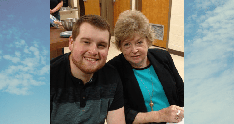 Daniel Ashmore with his grandmother, Sylvia Daniels