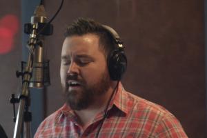 Hunter Sparkman in recording studio